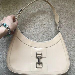 GUCCI Vintage Tan Shiny Calfskin shoulder bag!!!